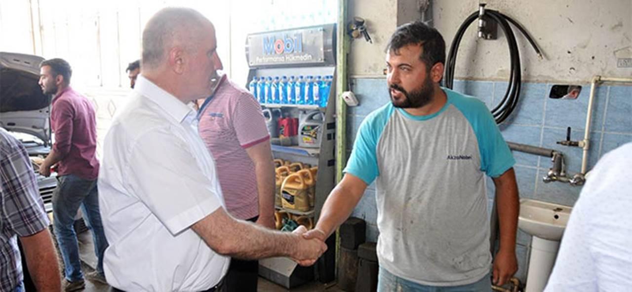Karaman Valisi Fahri Meral, Esnafları Ziyaret Etti