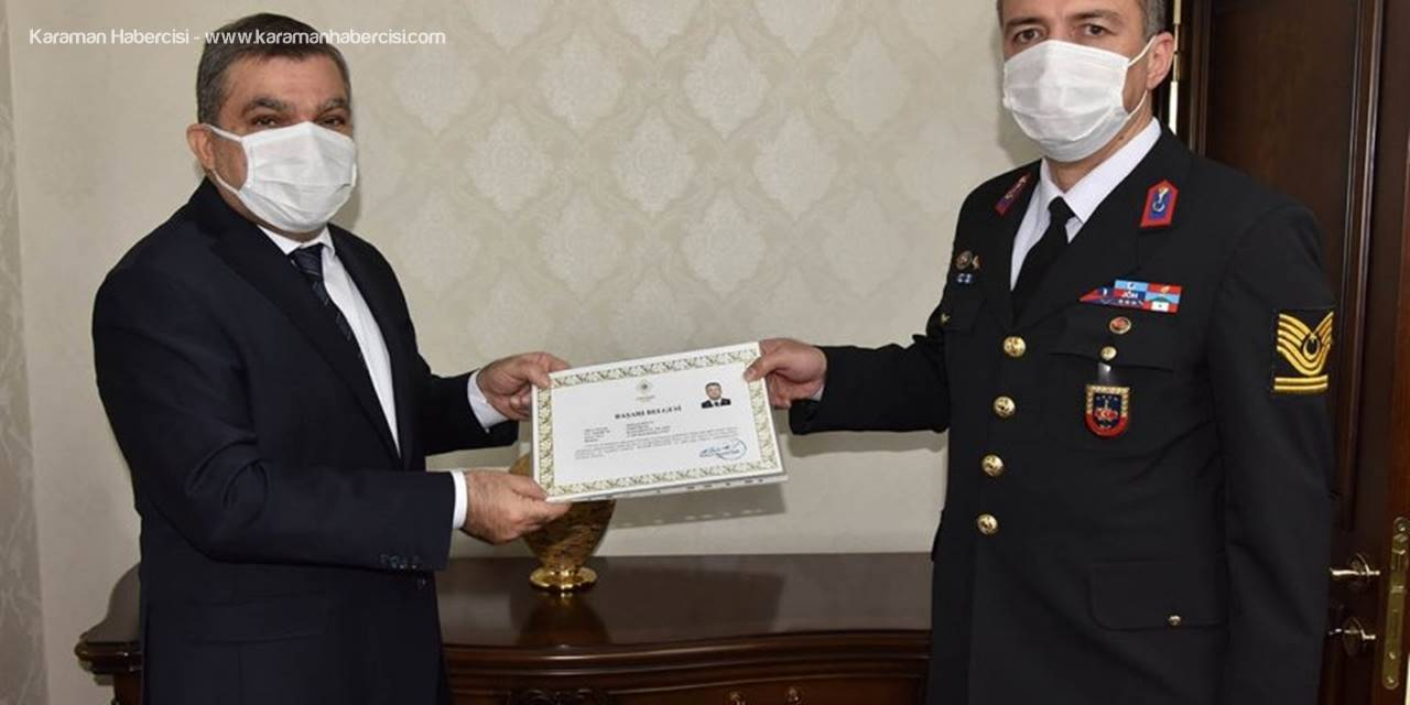 Karaman'da Başarılı Jandarma Personeli Ödüllendirildi