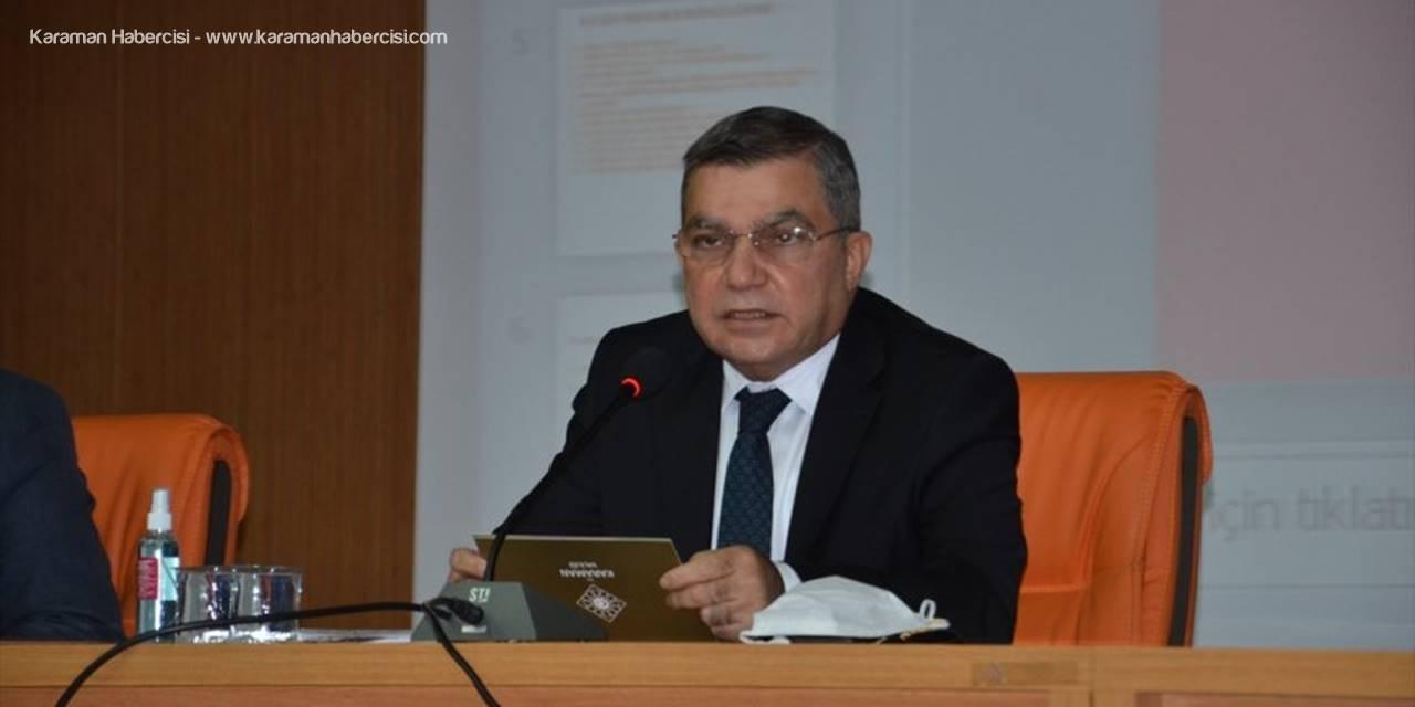 """Karaman'da """"2021 Yılı Yunus Emre'yi Anma"""" Toplantısı Yapıldı"""