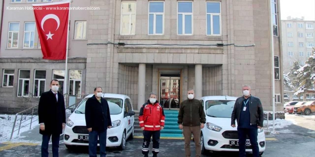 """Kayseri Sağlık Müdürlüğüne """"Sıhhat Projesi"""" Kapsamında 2 Araç Tahsis Edildi"""