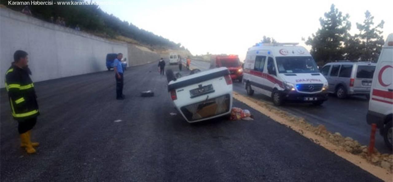 Karaman-Mut Yolunda Trafik Kazası: 3 Yaralı
