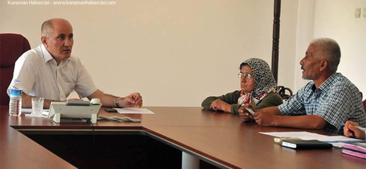 Karaman Valisi Fahri Meral, Vatandaşları Dinledi