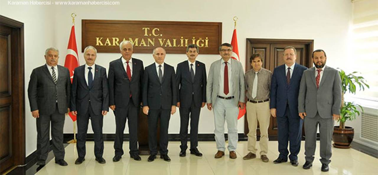 Karaman Valisi Fahri Meral'e, Türk Dili Heyetinden Ziyaret