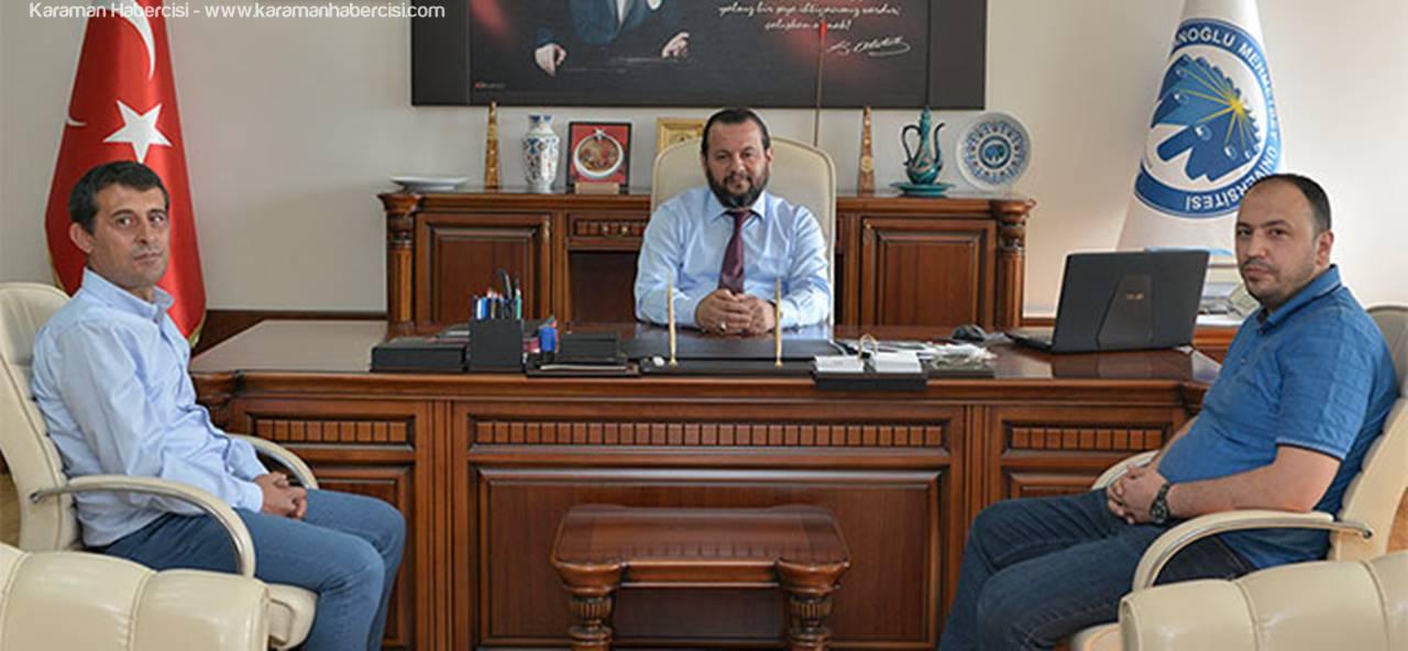 KMÜ Rektörü Akgül'e Ziyaretler Devam Ediyor