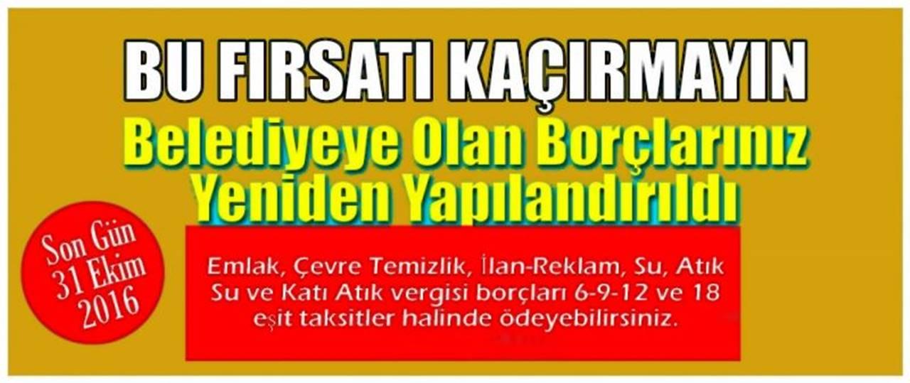 Karaman Belediyesi'ne Olan Borçlarda Yapılandırma İmkanı