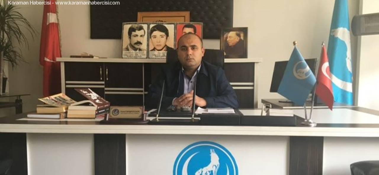 Ülkü Ocakları Karaman İl Başkanı Yusuf Başkocagil'den Kurban Bayramı Mesajı