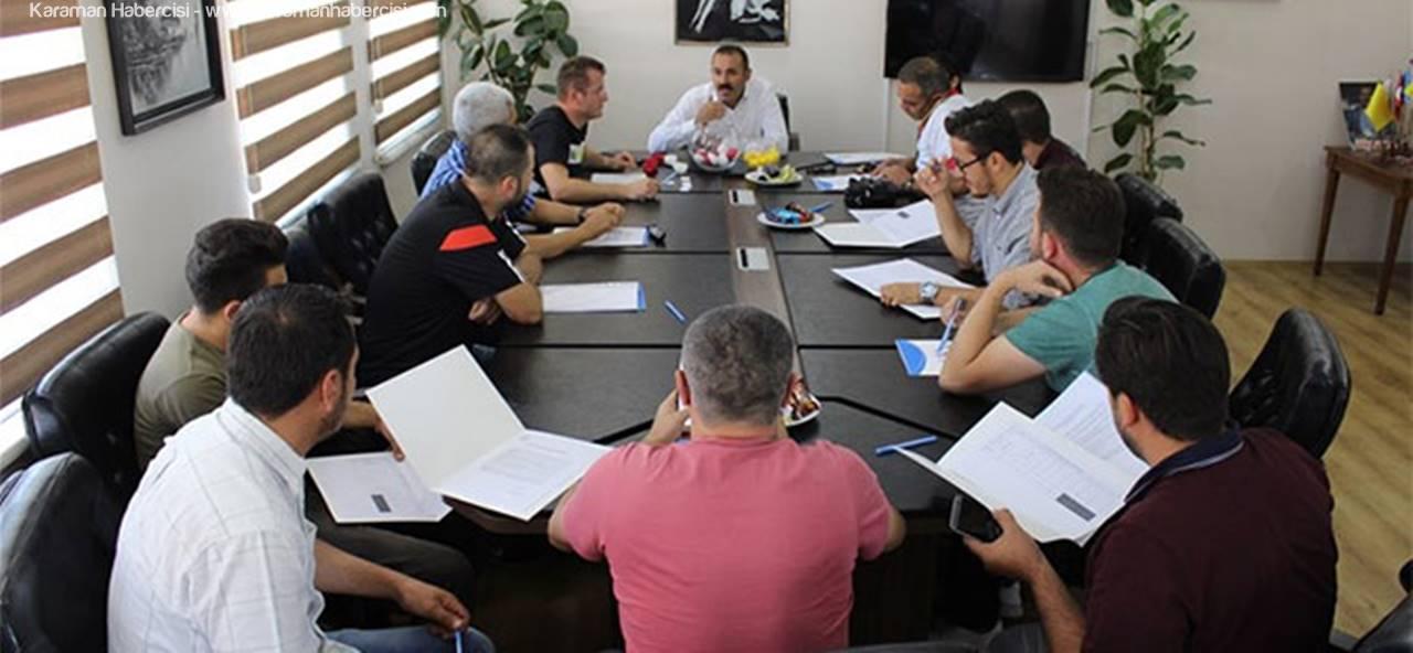 Kısacık,Karaman'daki Kulüp Temsilcileri İle Bir Araya Geldi