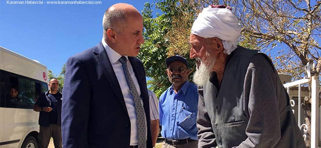 Karaman Valisi Fahri Meral, Çakırbağ Köyünü Ziyaret Etti