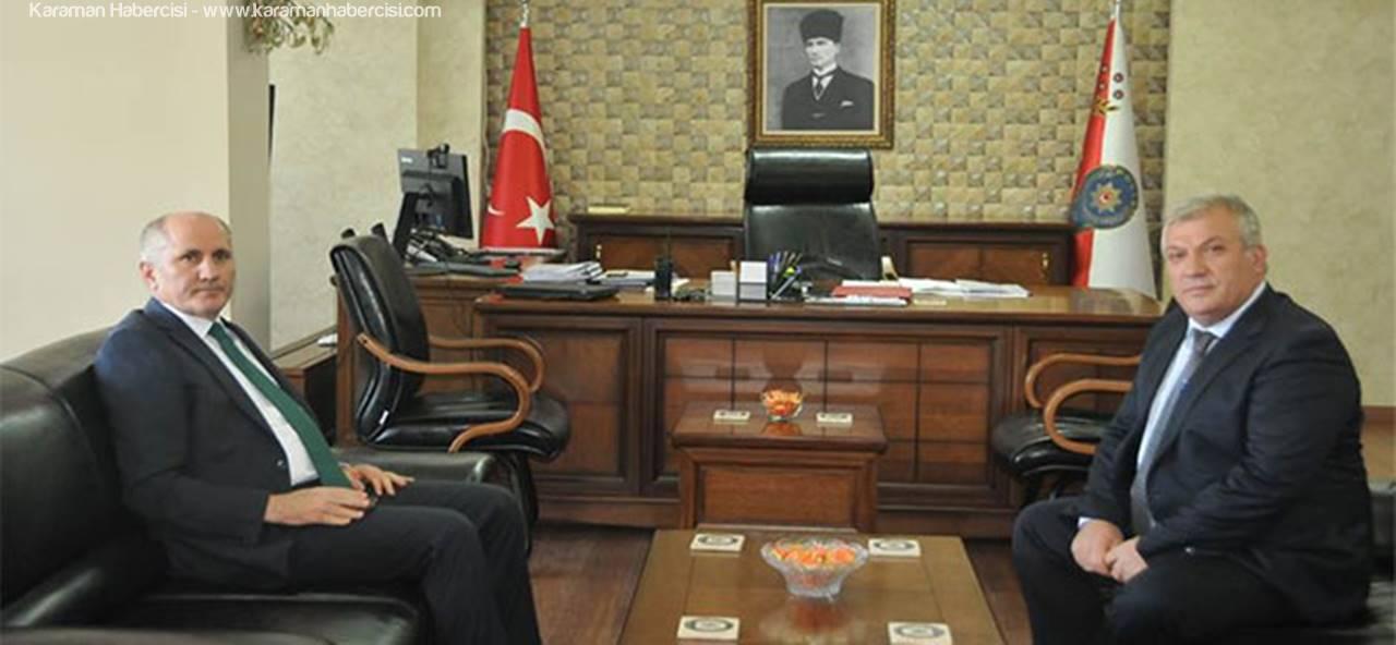 Karaman Valisi Fahri Meral,Emniyet Mensuplarına Başarılar Diledi