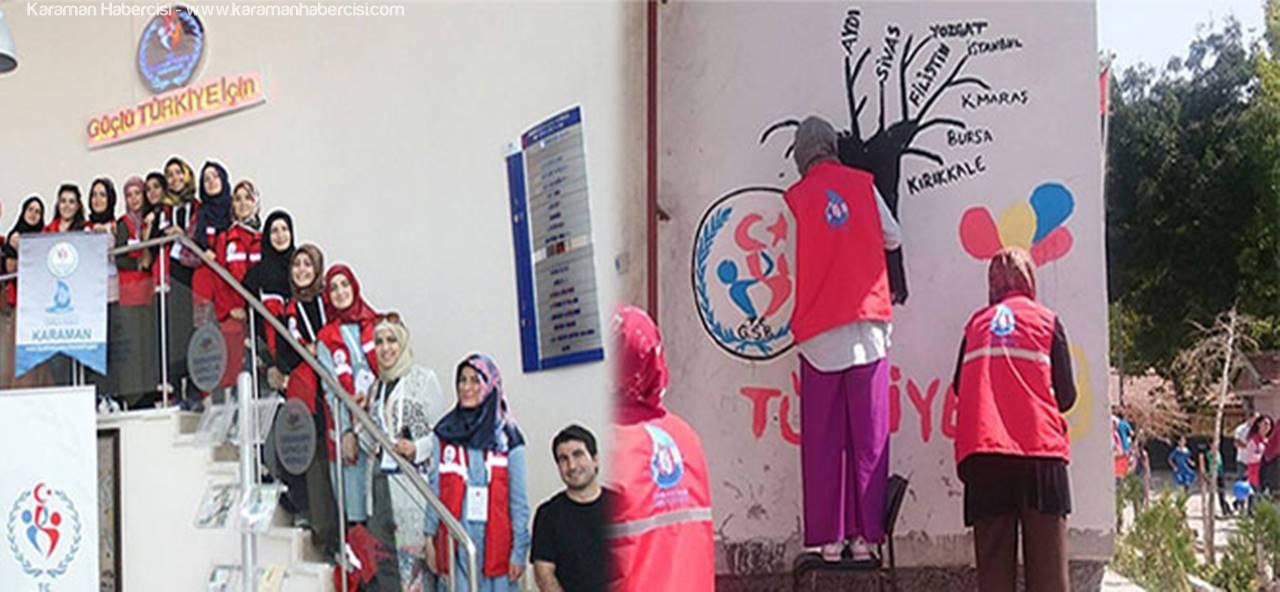 Karaman'da Damla Damla Sevgi Aşılıyorlar