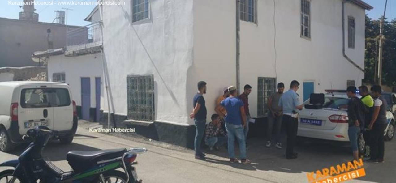 Karaman'ın Dar Sokaklarında Trafik Kazası