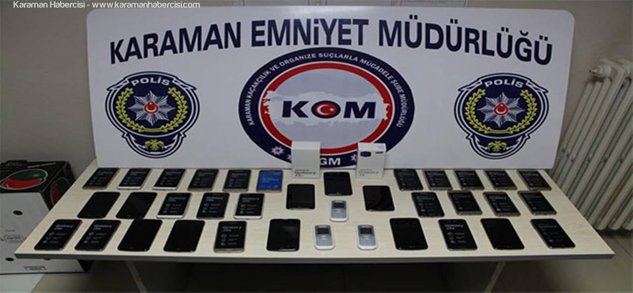 Karaman'da Gümrük Kaçağı Telefon Yakalandı