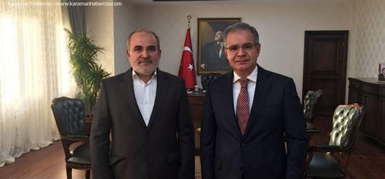 İstanbul Karamanlılar Derneğinden Vali Tapsız'a Ziyaret