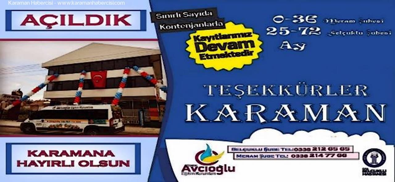 Karaman'da Osman Avcıoğlu Eğitim Kurumlarının 2. Şubesi Açıldı