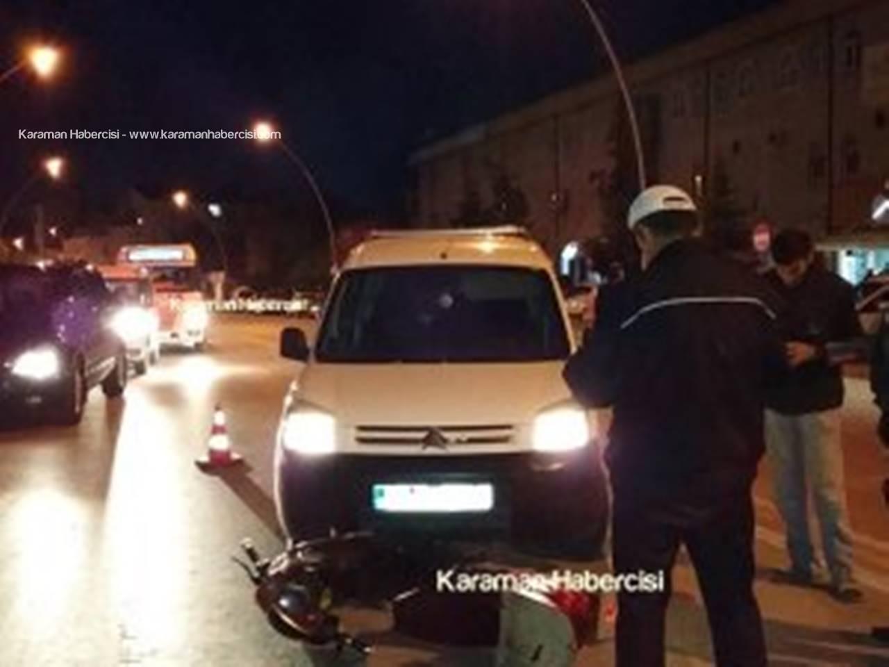 Karaman'da Elektrikli Motosiklet Kazaları