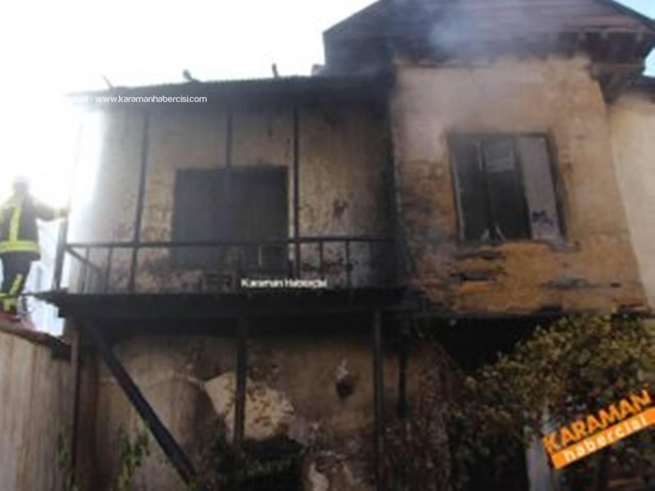 Abbas Mahallesinde Ev Yangını