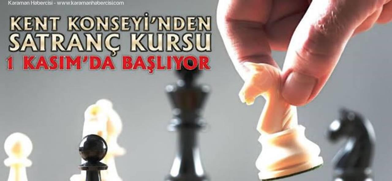 Satranç Kursu Karaman'da 1 Kasımda Başlıyor