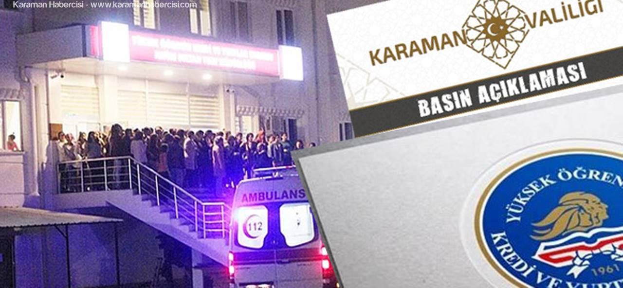 """Karaman'da Yaşananlara """"Öğrencilerin Maksadını Aşan Bir Girişimi"""" Denildi"""