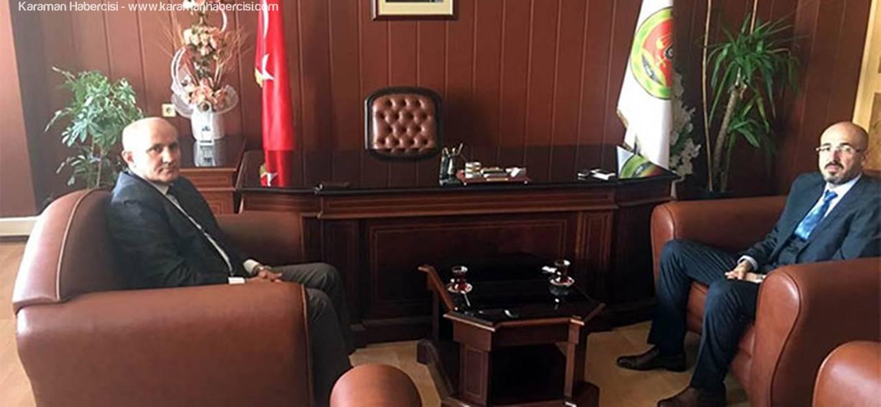Vali Fahri Meral Baro Başkanı Av. Oktay Yılmaz' ı Ziyaret Etti