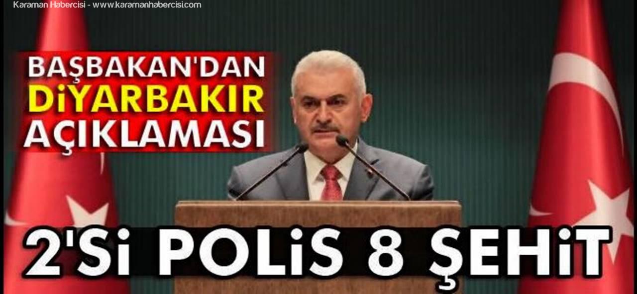 Başbakan'dan Diyarbakır Saldırısı Açıklaması