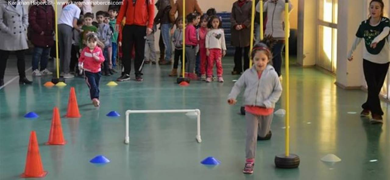 Ermenek'te Atletizm Şenliği Eğlenceli Geçti