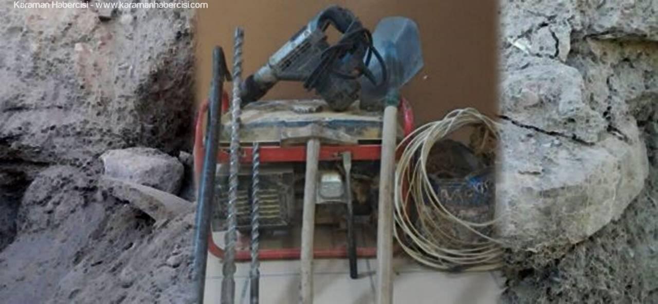 Karaman'da Hazine Avcılarına Suçüstü
