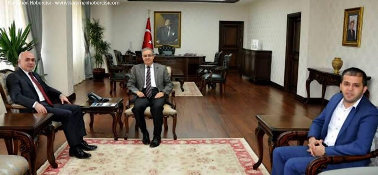 Ankaramander Başkanı Veli Bozkır'dan Vali Süleyman Tapsız'a Nezaket Ziyareti