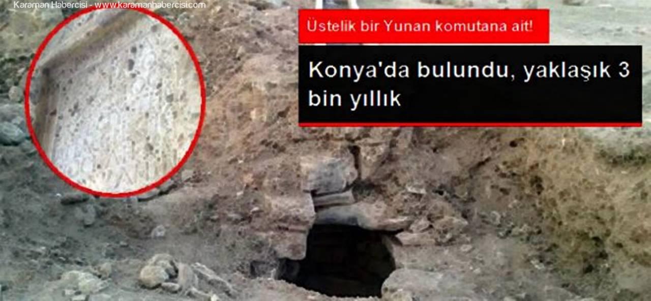 Konya'da Yunan Generale Ait Mezar Steli Ele Geçirildi