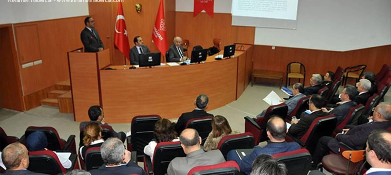 İl İdare Şube Başkanları Vali Fahri Meral Başkanlığında Toplandı