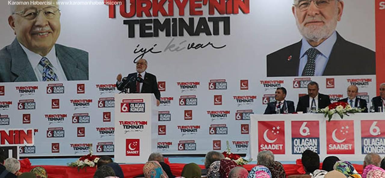 Karamollaoğlu Karaman'da Saadet Partisi İl Kongresine Katıldı