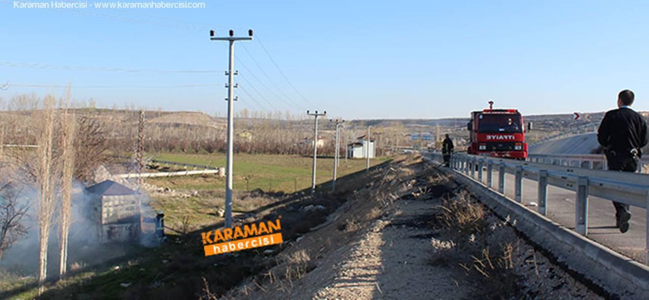 Karaman'da Baraka Yangını