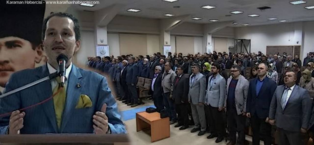 Fatih Erbakan Karaman'da Konferans Verdi.