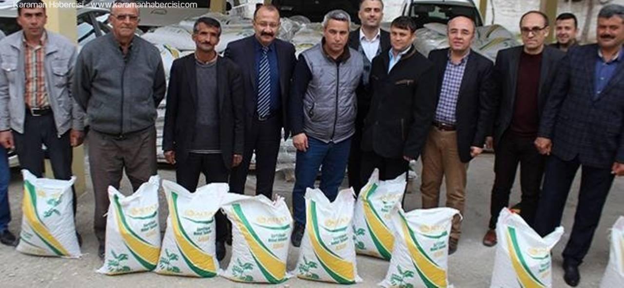 Karaman'da Nohut Tohumu Dağıtıldı