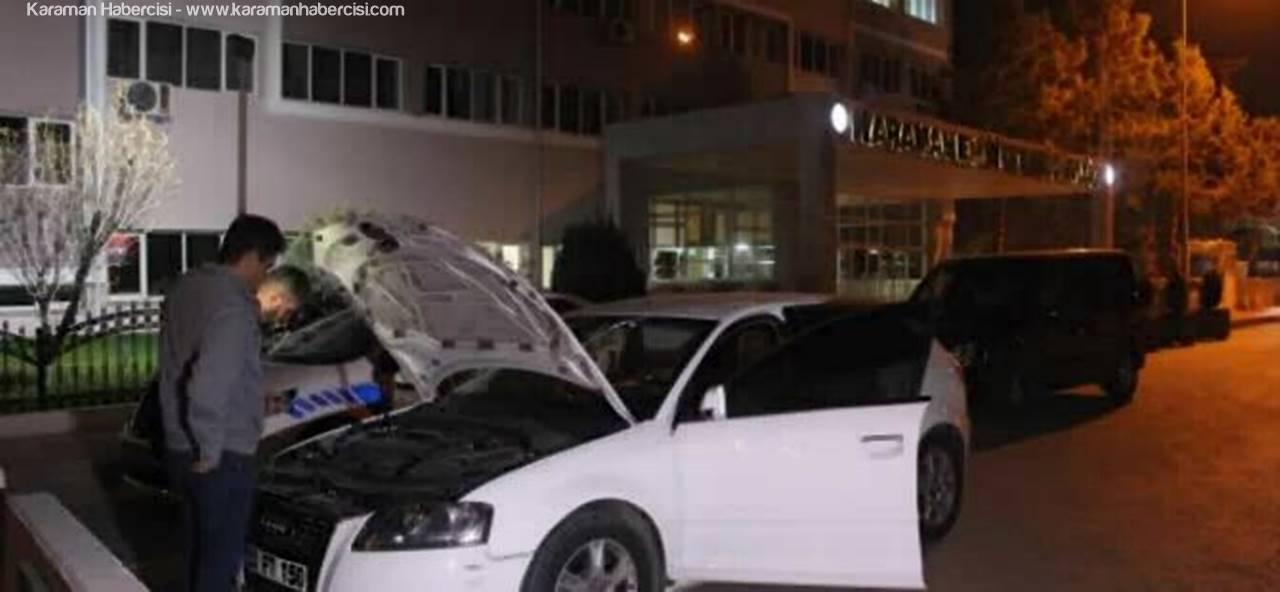 Ereğli'den Karaman'a Giriş Yapan Otomobilde Bomba Şüphesi