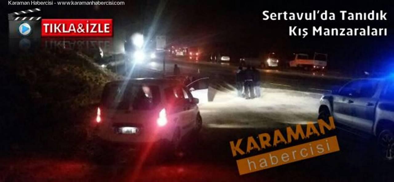 Sertavul Geçidi'nde 3 Araç Çapıştı: 4 Yaralı