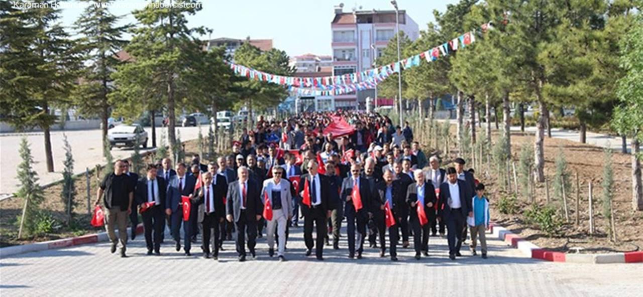 """Karaman'da """"57.Alay Vefa Yürüyüşü""""Yapıldı"""