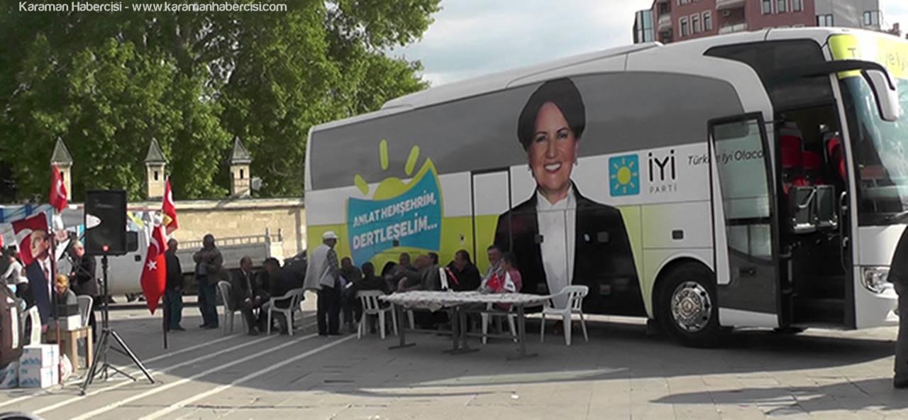 'Anlat Hemşerim' Otobüsü Karaman'da
