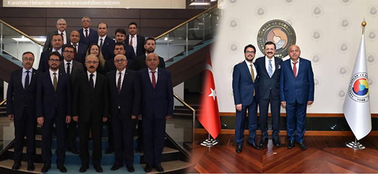 Karaman Ticaret ve Sanayi Odasından Ankara Ziyaretleri