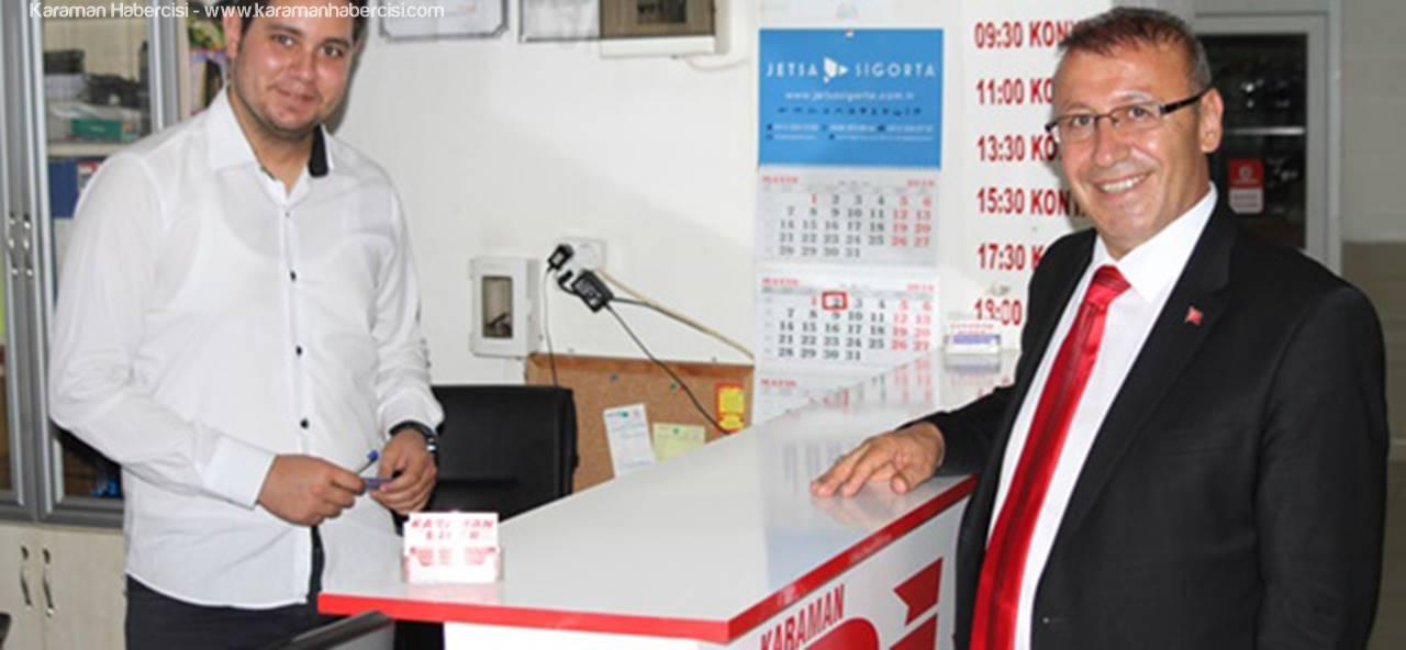 AK Parti Karaman Milletvekili Aday Adayı Veysel Göktekin, Ziyaretlerini Sürdürüyor.