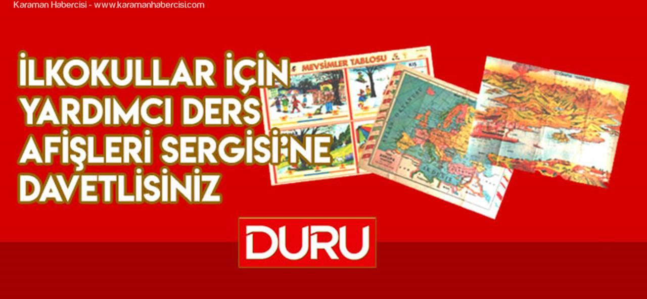 Karaman'da çocukluk yılları ders afişleri geri dönüyor