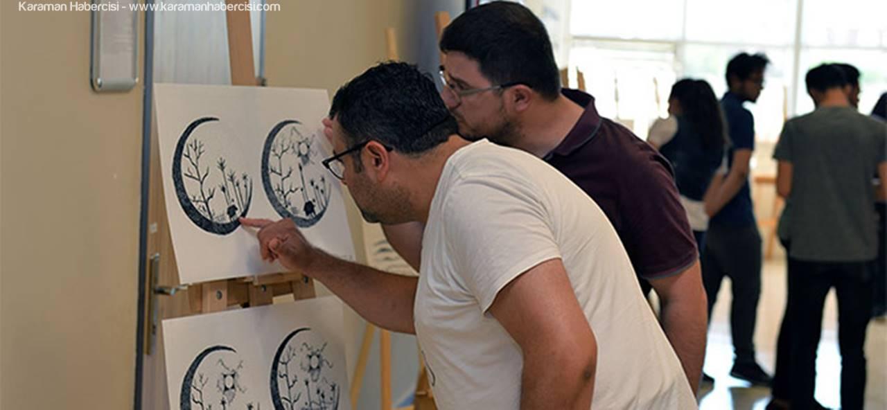 KMÜ Sınıf Öğretmenliği Öğrencileri Resim Sergisi Düzenledi