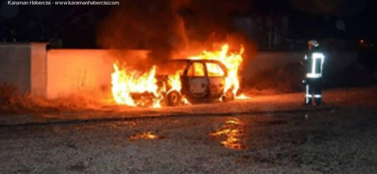 Karaman'da Oto Yangını
