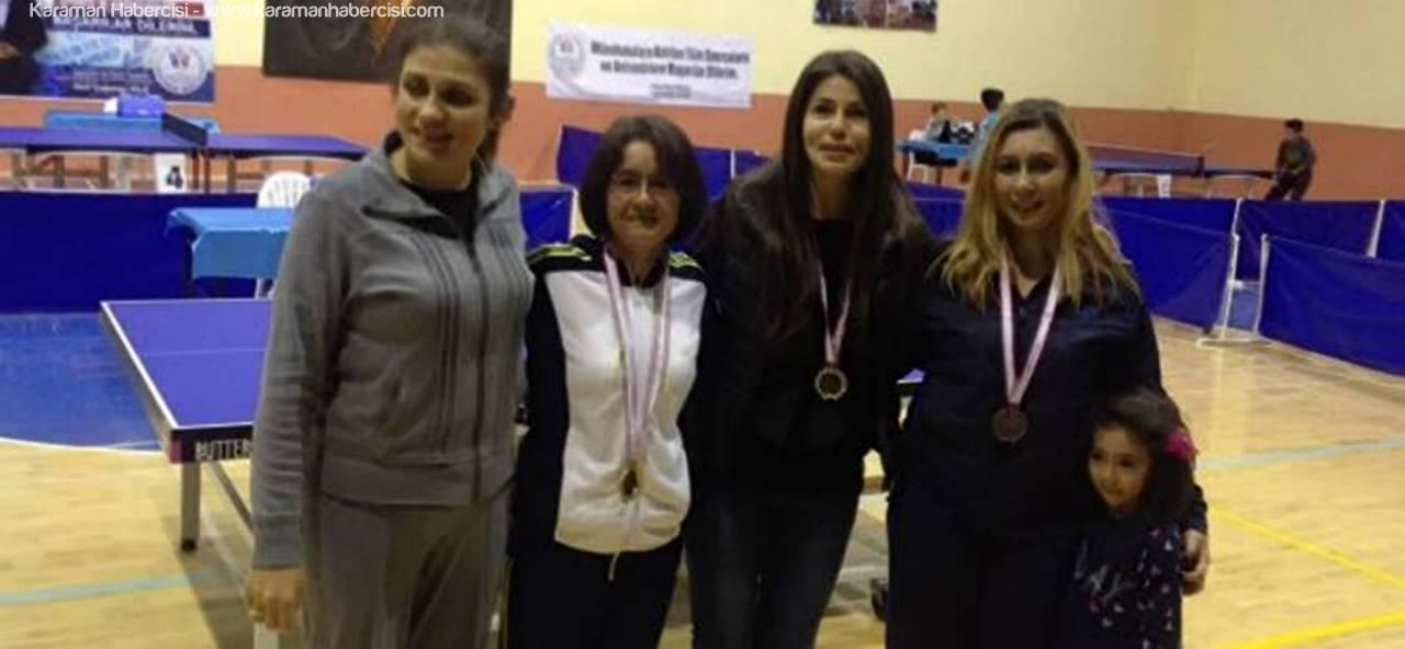 Karaman'da Öğretmenler Günü Masa Tenisi Turnuvası Sona Erdi