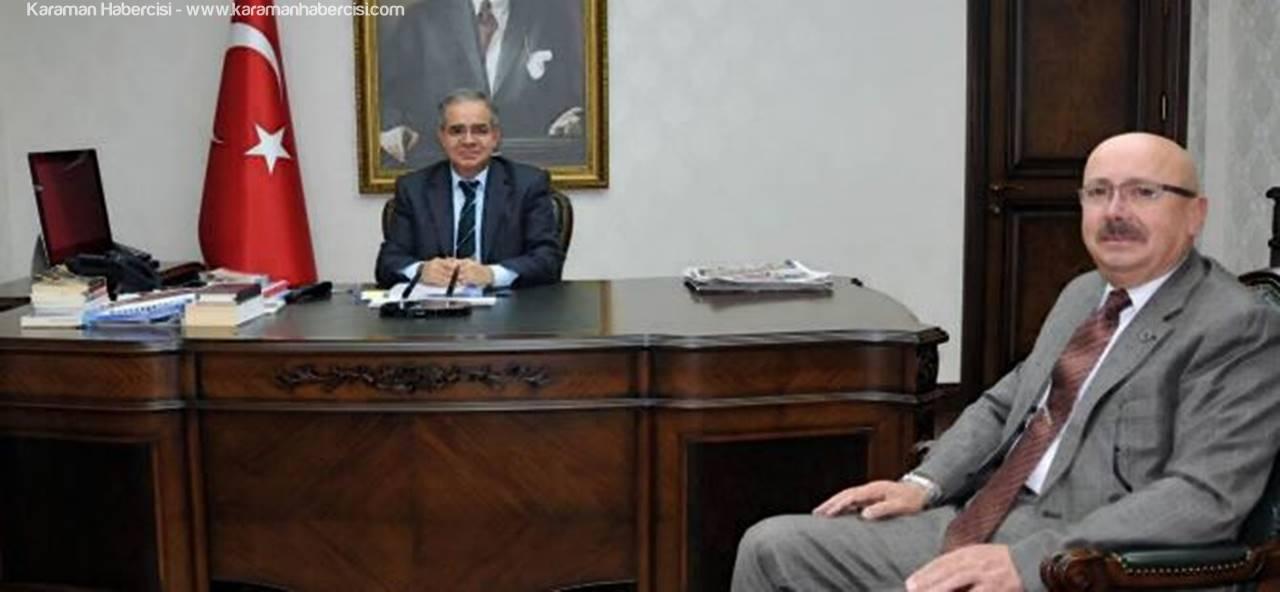 Sarıveliler Belediye Başkanı Hayri Samur, Vali Tapsız'a İlçeyi Anlattı