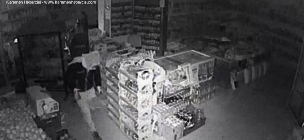 Ereğli'de Market Faresi Güvenlik Kameralarına Yakalandı