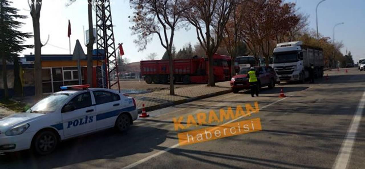 Karaman'da Kış Lastiği Uygulamaları