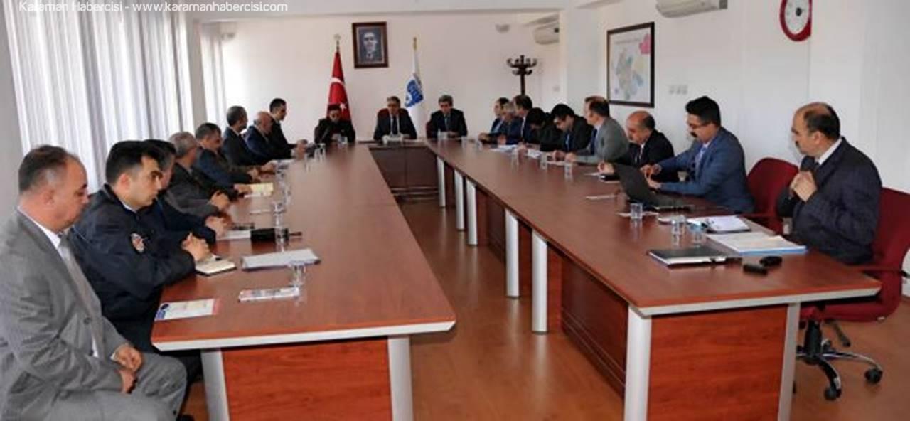 Karaman'da Kış Tedbirleri Masaya Yatırıldı