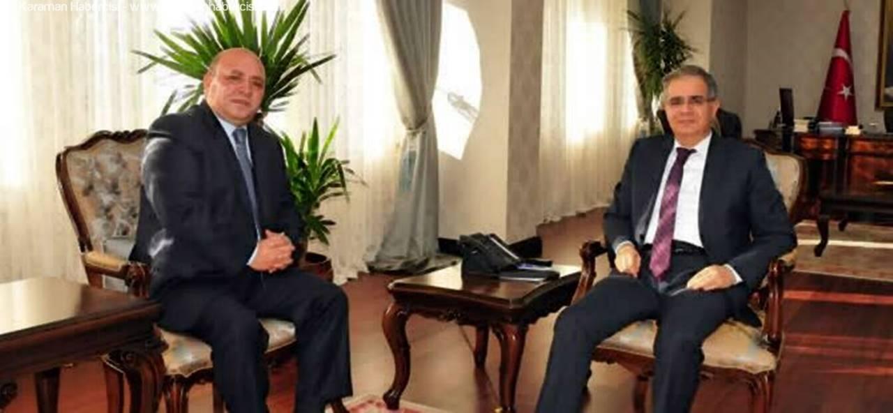 Karapınar Kaymakamı Mustafa Karaca'dan Vali Süleyman Tapsız'a Ziyaret