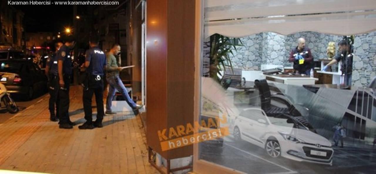 Karaman'da İşyerine Silahlı Saldırı