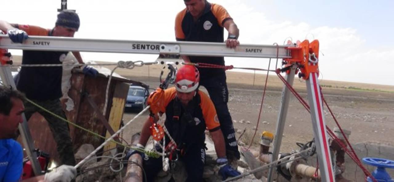 Aksaray'da Kuyuya Düşen Vatandaşı AFAD Kurtardı